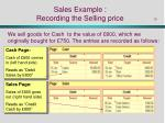 sales example recording the selling price
