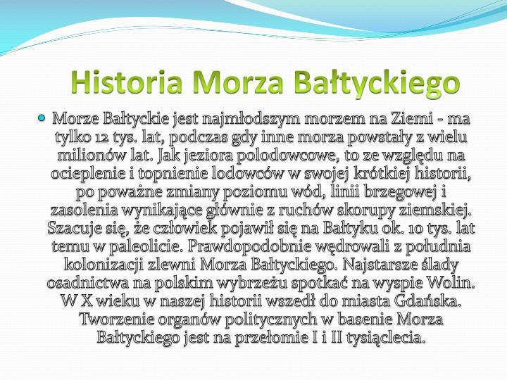 Historia Morza Bałtyckiego