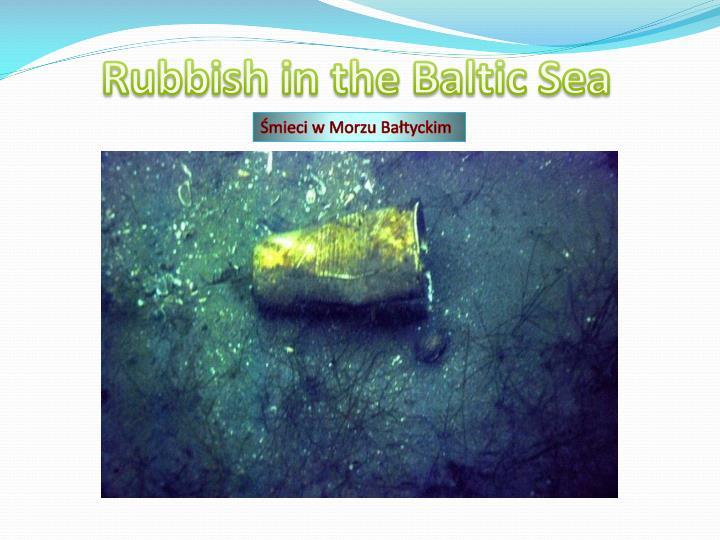 Rubbish in the Baltic Sea