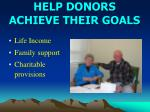 help donors achieve their goals