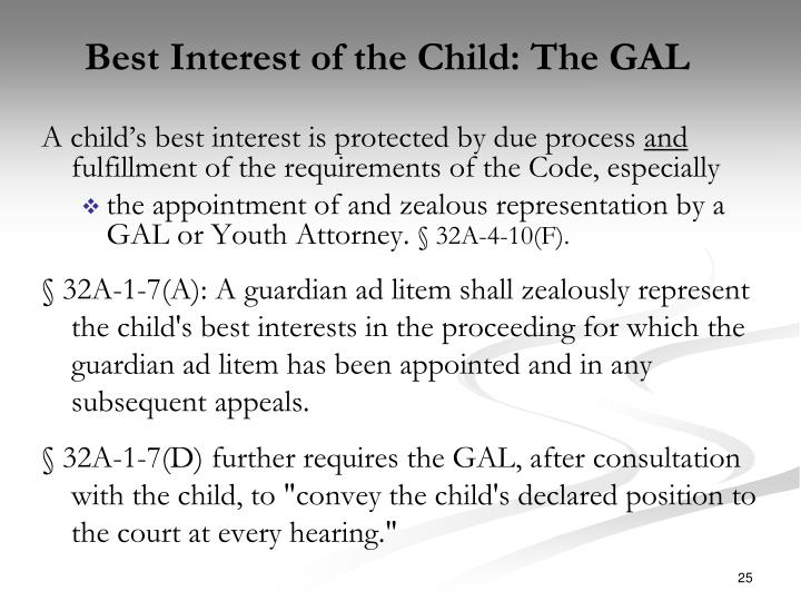 Best Interest of the Child: The GAL