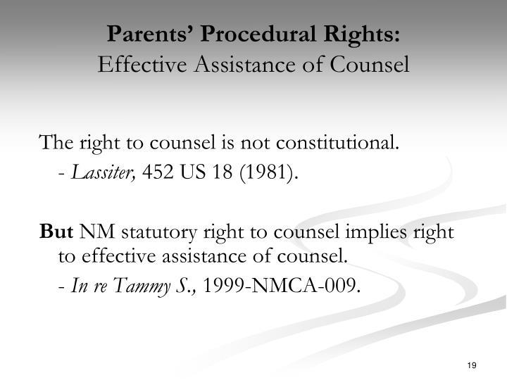 Parents' Procedural Rights: