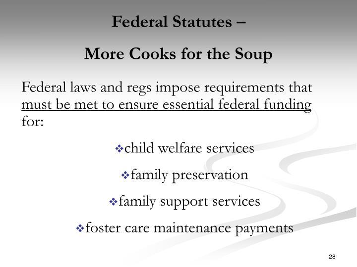 Federal Statutes –