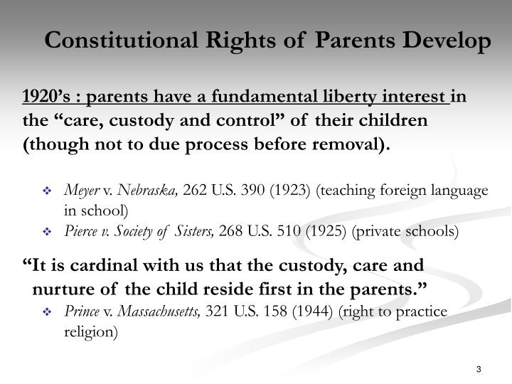 Constitutional Rights of Parents Develop