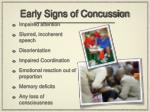 early signs of concussion