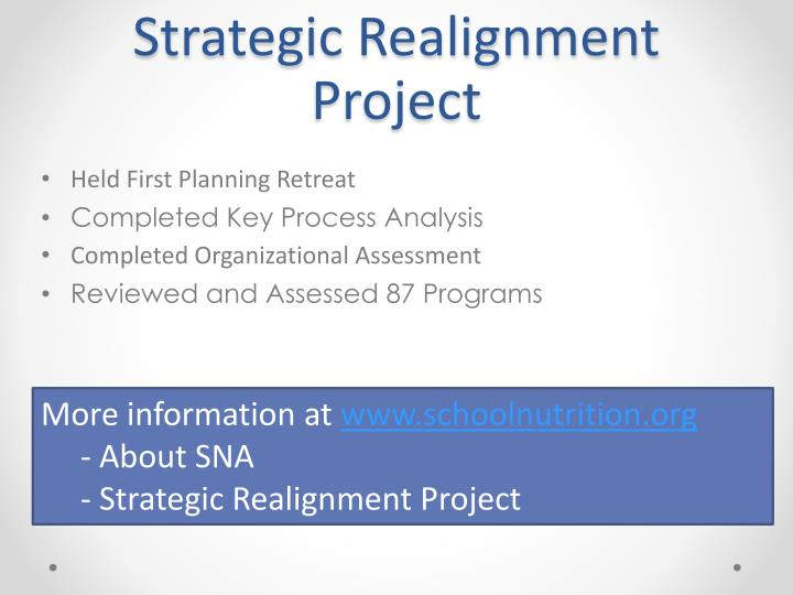 Strategic Realignment Project