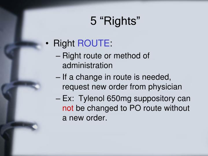 """5 """"Rights"""""""