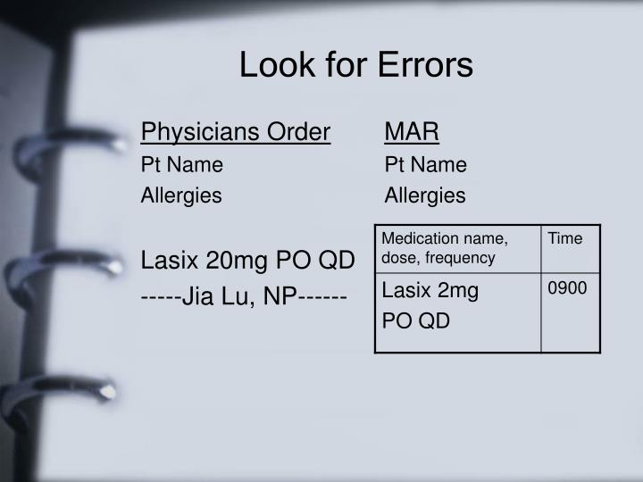 Physicians Order