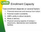 enrollment capacity