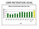 umr retention goal