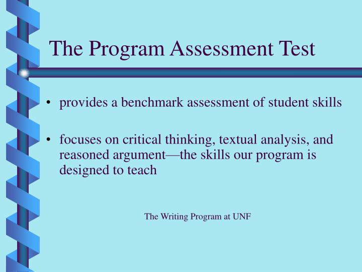 The Program Assessment Test