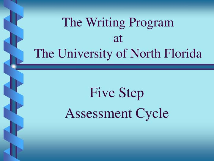 The writing program at the university of north florida