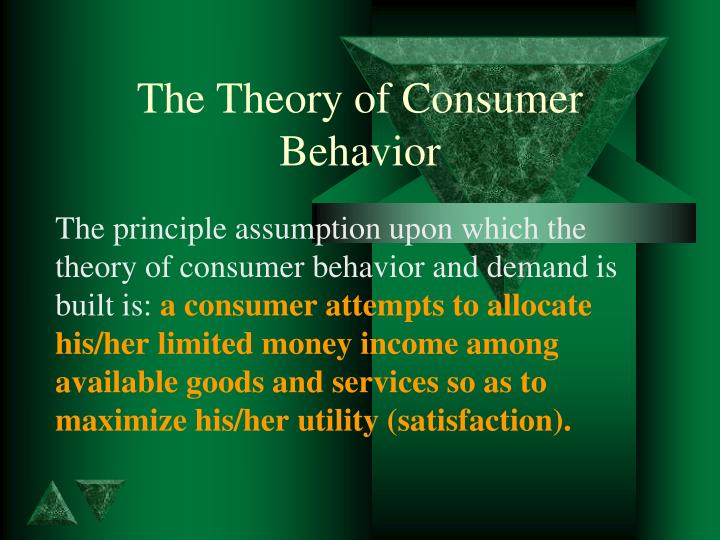 The theory of consumer behavior1