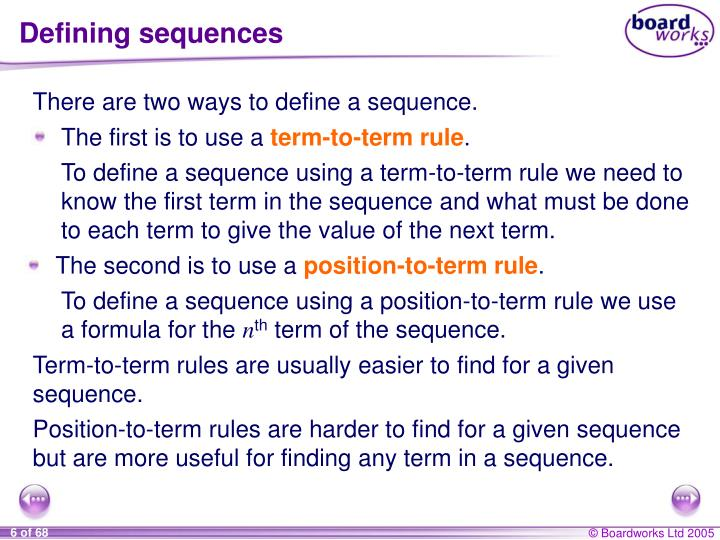 Defining sequences
