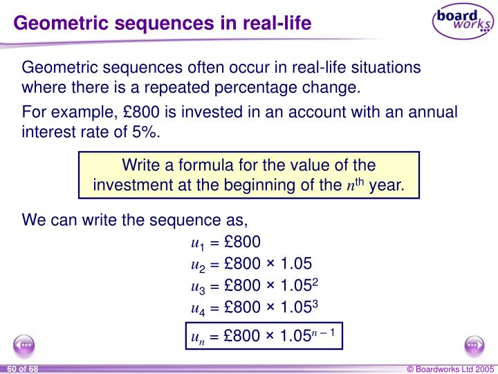 Geometric sequences in real-life