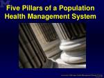 five pillars of a population health management system