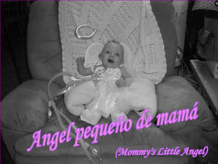 Angel pequeño de mamá