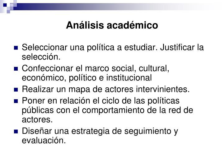 Análisis académico