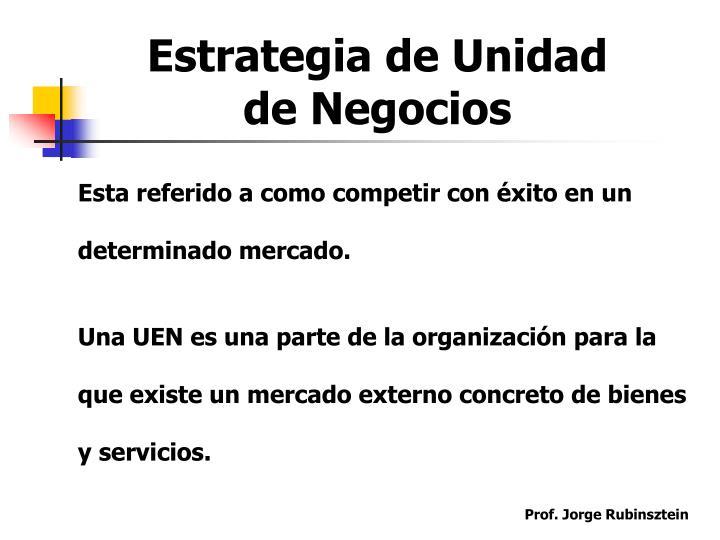 Estrategia de Unidad de Negocios