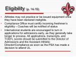 eligibility p 14 15