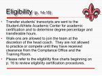 eligibility p 14 151