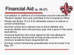 financial aid p 26 27