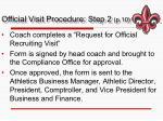 official visit procedure step 2 p 10