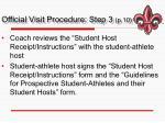 official visit procedure step 3 p 10