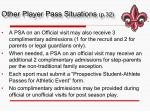 other player pass situations p 32