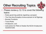 other recruiting topics