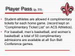 player pass p 31