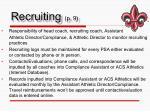 recruiting p 9