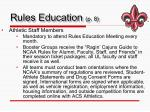 rules education p 8