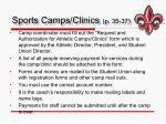 sports camps clinics p 35 37