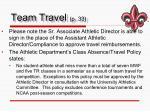 team travel p 33