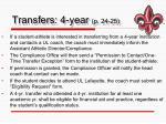 transfers 4 year p 24 25