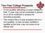 two year college prospects