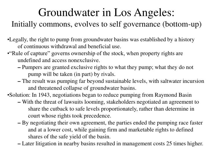 Groundwater in Los Angeles: