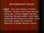 girl s women s soccer