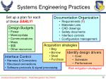 systems engineering practices