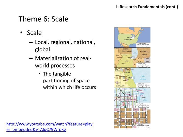 Theme 6: Scale