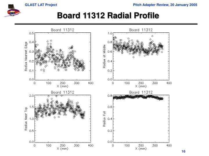 Board 11312 Radial Profile