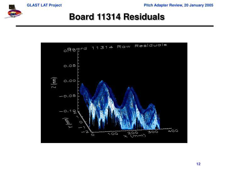 Board 11314 Residuals