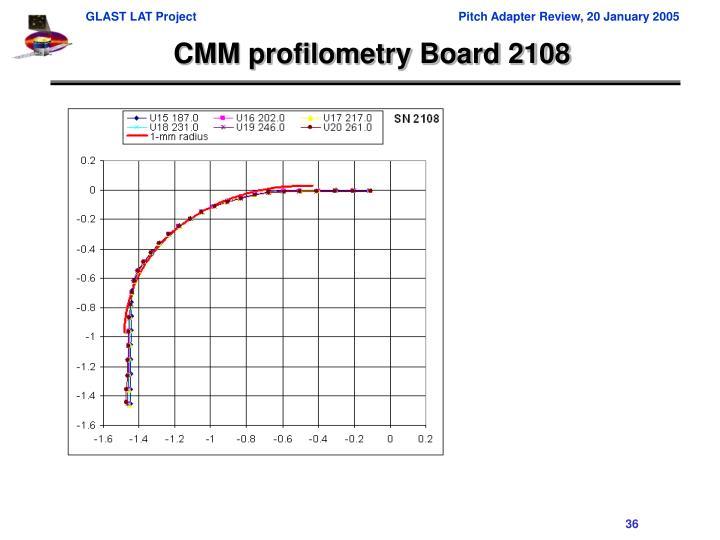 CMM profilometry Board 2108