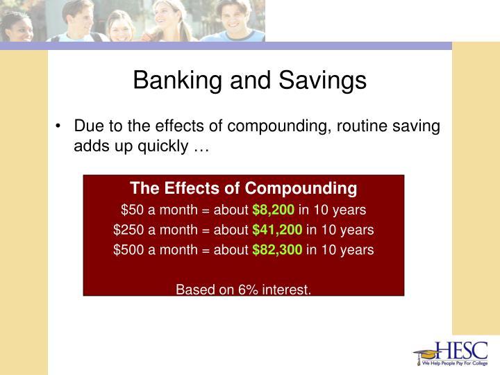 Banking and Savings
