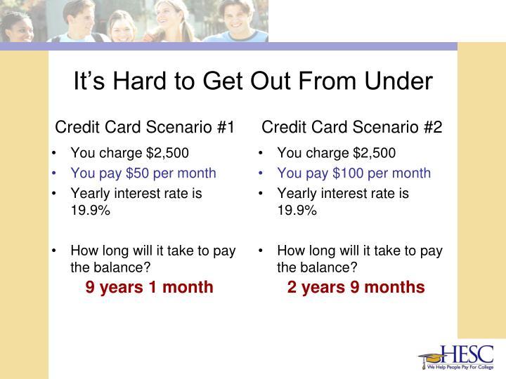 Credit Card Scenario #1