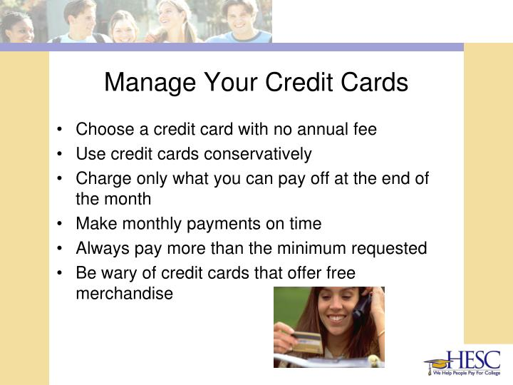 Manage Your Credit Cards