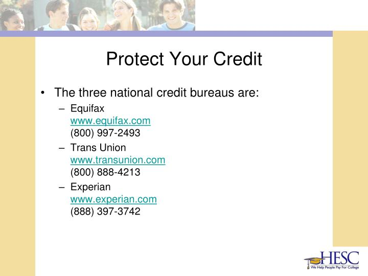 Protect Your Credit