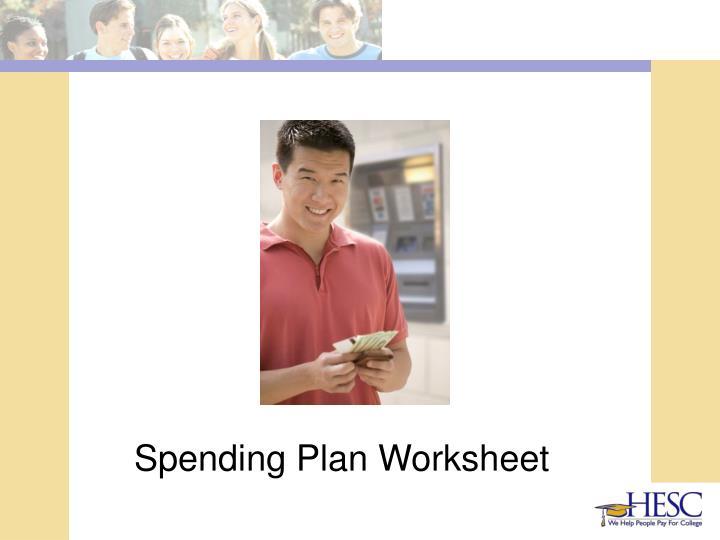 Spending Plan Worksheet