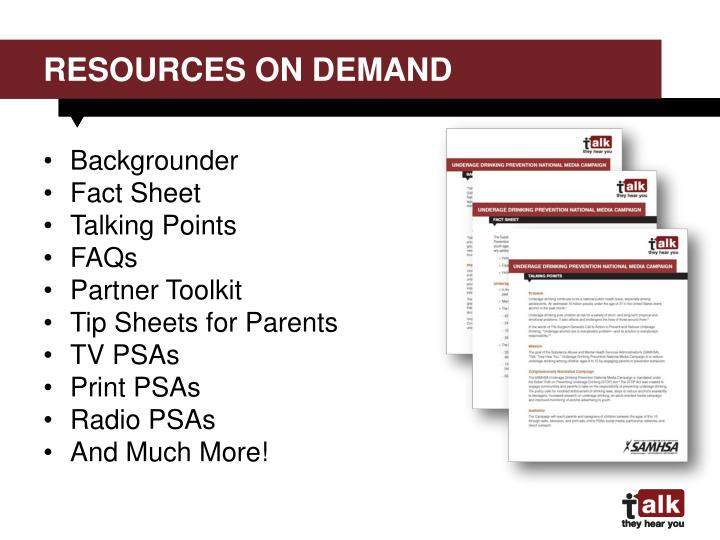 resources on demand